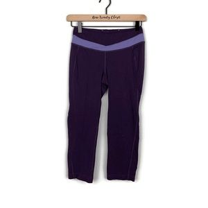 Lucy Activewear | Purple Cropped Workout Leggings